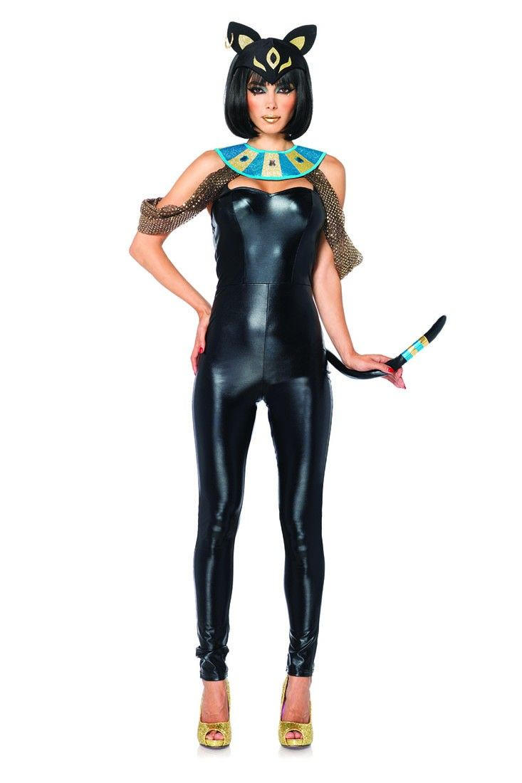 piece jeweled includes goddess egyptian catsuit