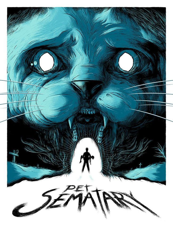 """- Inspired by Pet Sematary - Screen Print - Turquoise Variant Edition of 15 - Approximately 18"""" x 24"""" - Signed and Numbered"""