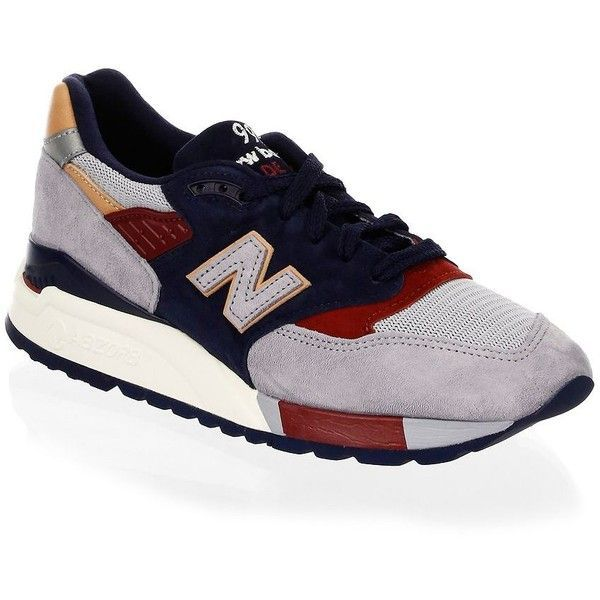 New Balance Q317 Sneakers (2 370 ZAR) ❤ liked on Polyvore featuring men's fashion, men's shoes, men's sneakers, mens leather sneakers, mens leather lace up shoes, mens sneakers, new balance mens shoes and mens shoes