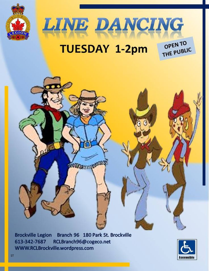 Line Dancing   Tuesday's  1 - 2pm  Open to the Public