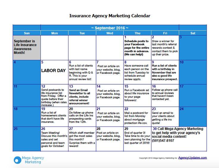 Marketing Calendar Ideas : Best insurance info images on pinterest