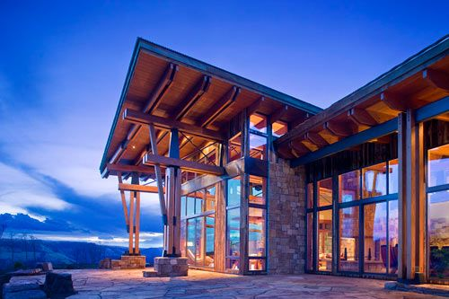 Located in Telluride, Colorado, the Canyon Point residence by RKD ArchitectsModern Mountain House, Beams Work, Point House, Buildings A House, Mountain Architecture, Arquitectura Architecture, Canyon Point, Mountain Home, Home In Colorado Mountain