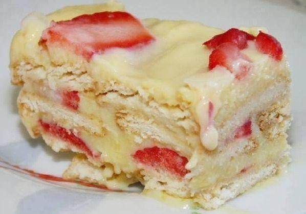 Torta Pavê de Morango