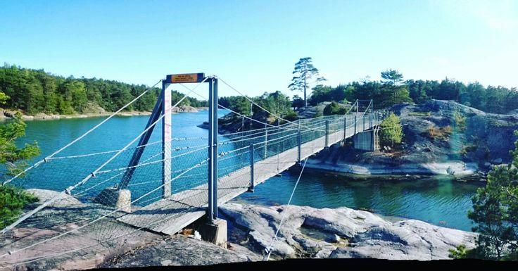 Stendörren, Oxelösund, Sweden  A fantastic nature reserve in Sweden with suspension bridges linking tiny islands.