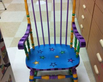 1930's painted chair by PaintedLoveHome on Etsy