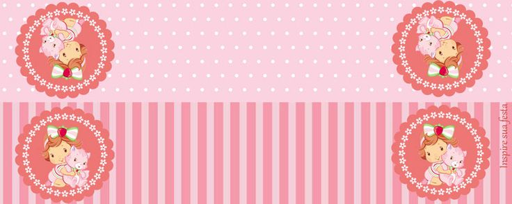 Fiesta de Strawberry Shortcake Bebé: Etiquetas para Candy Bar para Imprimir Gratis.