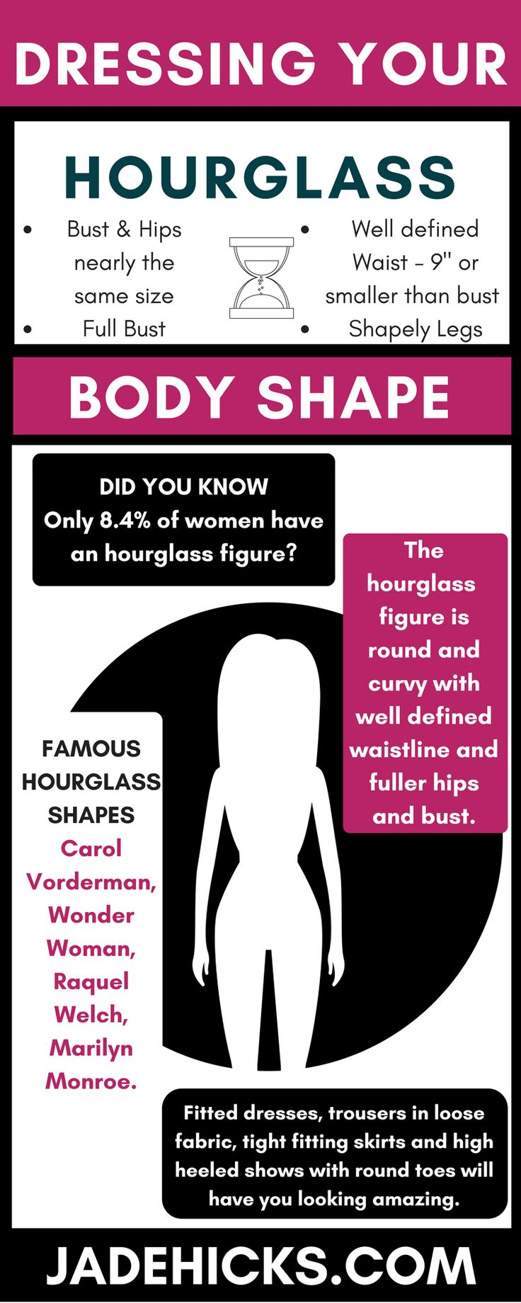 Hourglass body shape type dressing what to wear