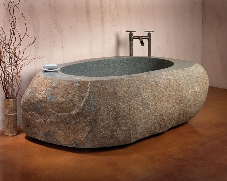 chillen in mijn stenen bad - wonen voor mannen - stenen, bad, badkuip, graniet, marmer,