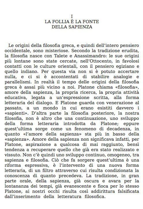 Giorgio Colli, La nascita della filosofia