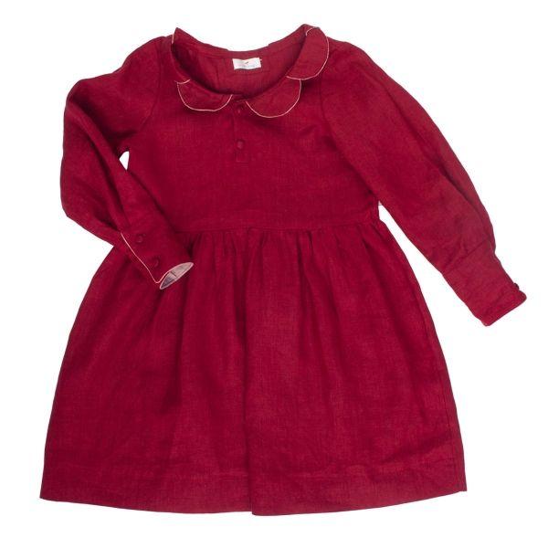 Mákvirág — Petal dress deep red