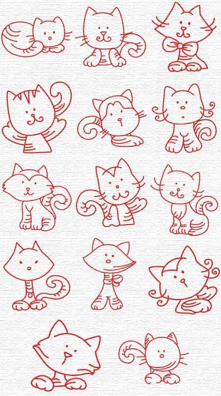 Gatinhos em diversas poses