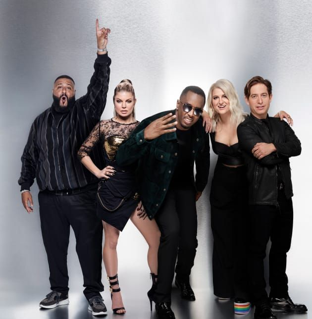 """The Four: Battle for Stardom. 2018. Another singing competition show. Shown: judge DJ Khaled, host Fergie, and judges Sean """"Diddy"""" Combs, pop star Meghan Trainor, and record label executive Charlie Walk. https://en.m.wikipedia.org/wiki/The_Four:_Battle_For_Stardom. There are some excellent performances on this show. I just skip over the ones I don't like and all the filler. I have finished S01E03."""
