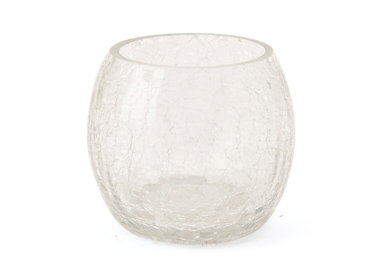 CRACKLE GLASS CLEAR VOTIVE - R20