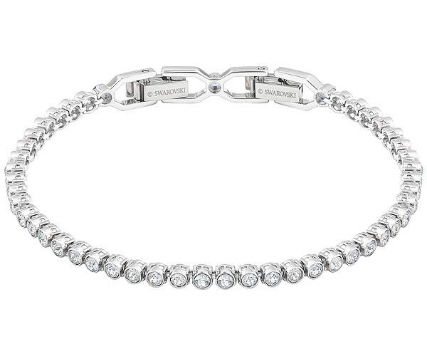 A classic bracelet with a gleam that speaks volumes! This delicate strand of bezel-set clear crystals on a rhodium-plated bracelet is very dainty and ... Shop now