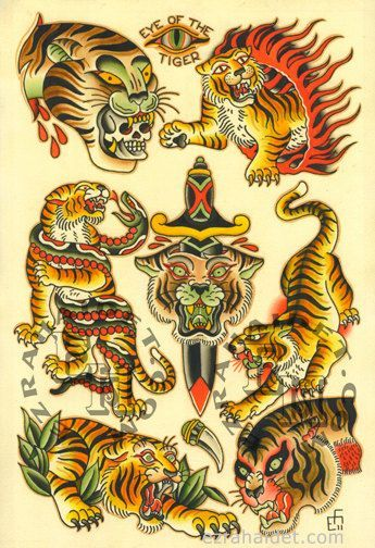 tiger traditional tattoo - Google Search