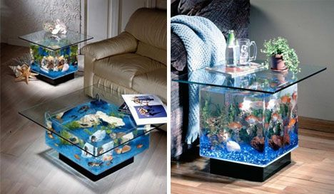 cool fishtanks #1....: Awesome Fishtanks, Coffee Tables, Fish Tanks, Dream House, Aquariums, Fishtanks Tables, Aquarium Ideas, Aquarium Design