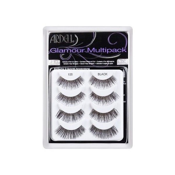 Ardell Eyelash  Multipack Black (€11) ❤ liked on Polyvore featuring beauty products, makeup, eye makeup, false eyelashes, ardell, ardell fake eyelashes and ardell false eyelashes