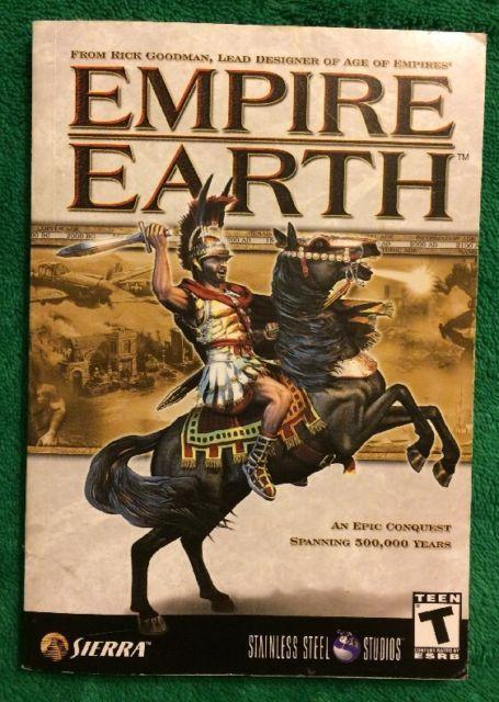 2002 Empire Earth Rick Goodman Paperback Book User Manual PC Games Instructions | eBay