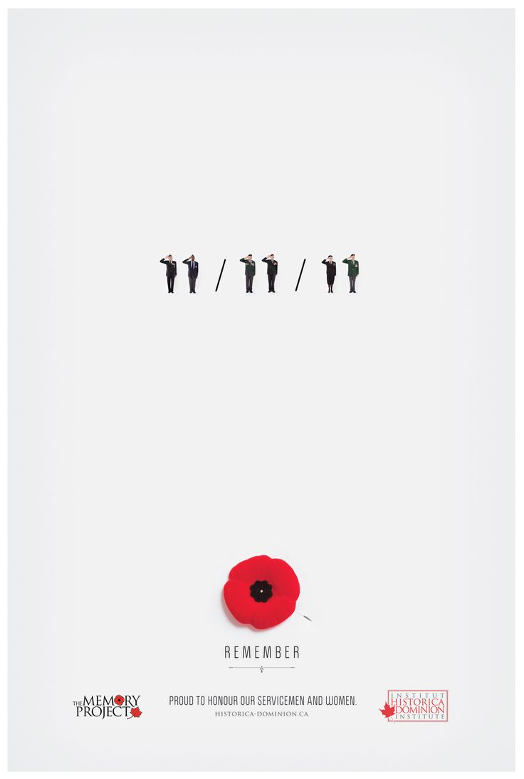 Remembrance Day on the 11th month (November) on the 11th day at 11am we have 1 minute of silence.