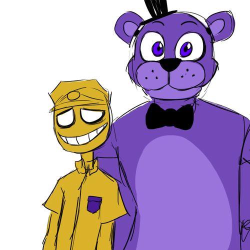Golden guy and purple freddy funny fnaf pinterest