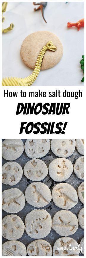 Wie man DIY-Dinosaurier-Fossilien aus Salzteig mac…