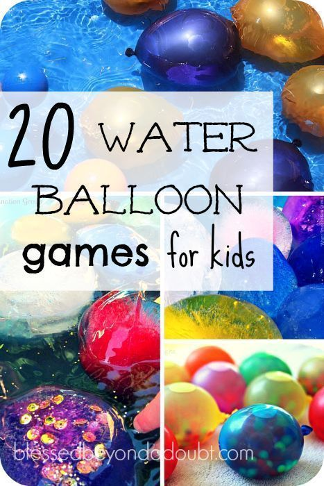 20 fun water balloons games for kids ballon spellen