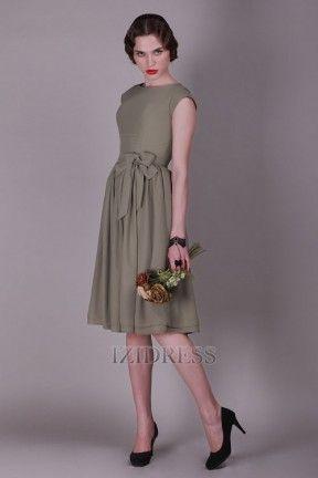 Sheath/Column High-neck Chiffon Bridesmaids Dress - IZIDRESSBUY.com at IZIDRESS.com
