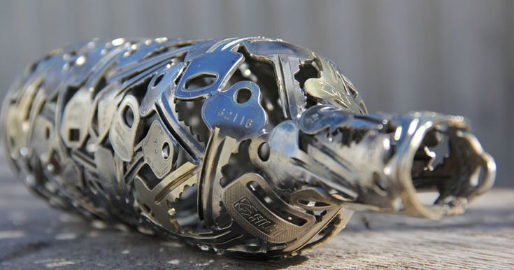 Michael, aka Moerkey, is an artist from Horsham, Victoria, Australia. The talented craftsman creates unique handmade balls, bowls and sculptures from discarded keys and coins; as well as rec…