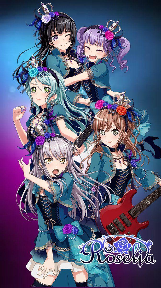 Pin On Anime Girls Bandg Dreams