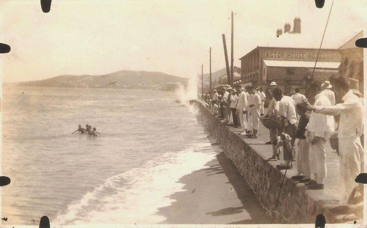 Sailors on liberty Chefoo, China. 1920s