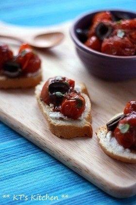 ローストミニトマトとオリーブのサルサ