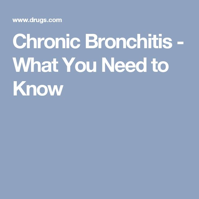 Chronic Bronchitis - What You Need to Know