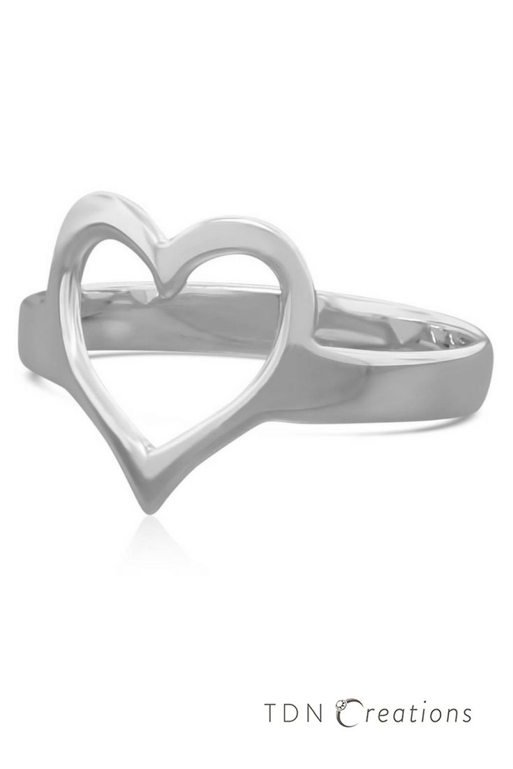 This sterling silver heart ring is simple and timeless.Heart rings are the perfect representation of everlasting love and long lasting relationships.Great gift for women, an everyday ring, and a minimalist ring.This ring is handmade using fine sterling