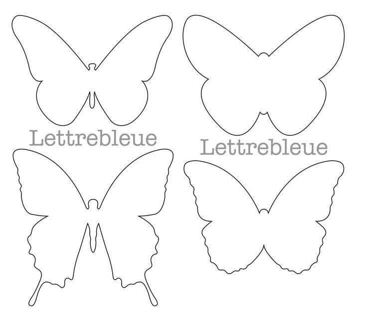 carte forme papillon | Voici les papillons que j'ai dessiné sur ordi pour les réas de l ...