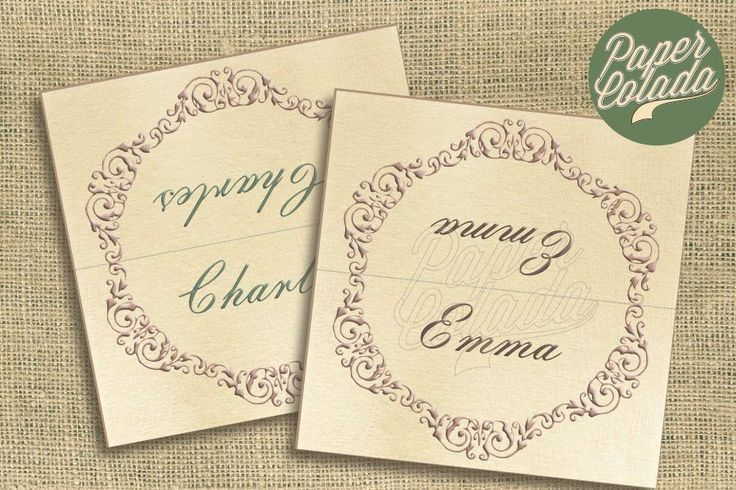 Printable Wedding Place Cards - 'Sensibility', Georgian Regency themed placecards, Vintage place name cards wedding, Rustic vintage by PaperColada on Etsy