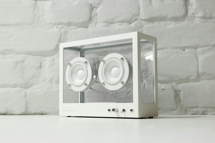 The Small Transparent Speaker was designed and launched on Kickstarter by Stockholm studio People People. It is intended as a reaction against excessive consumer waste, particularly electronic waste.