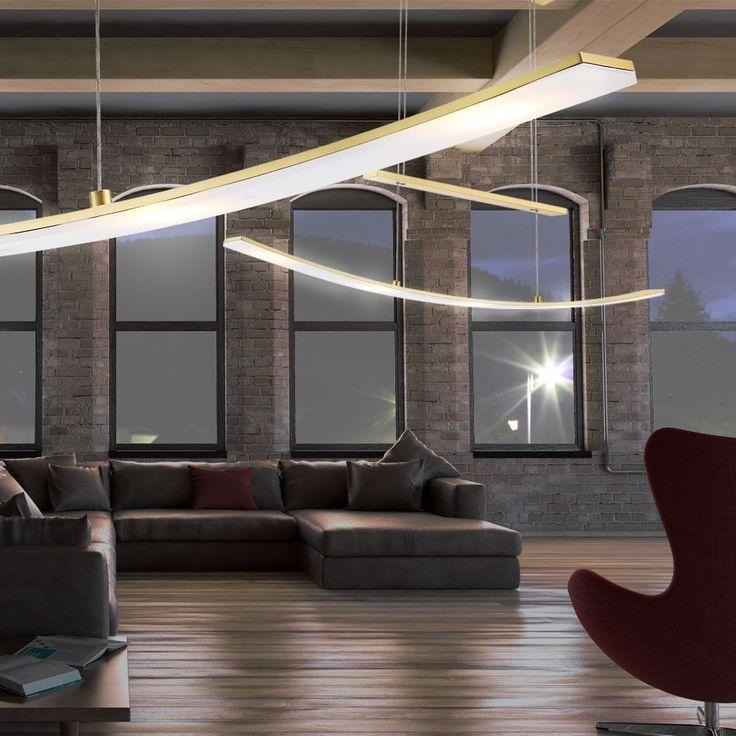 Ideal Details zu LED W Pendel Leuchte Messing H nge Lampe H hen Verstellbar Beleuchtung dimmbar
