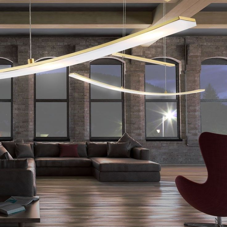 LED 21W Pendel Leuchte Messing Hänge Lampe Höhen Verstellbar - küchenlampen decke led