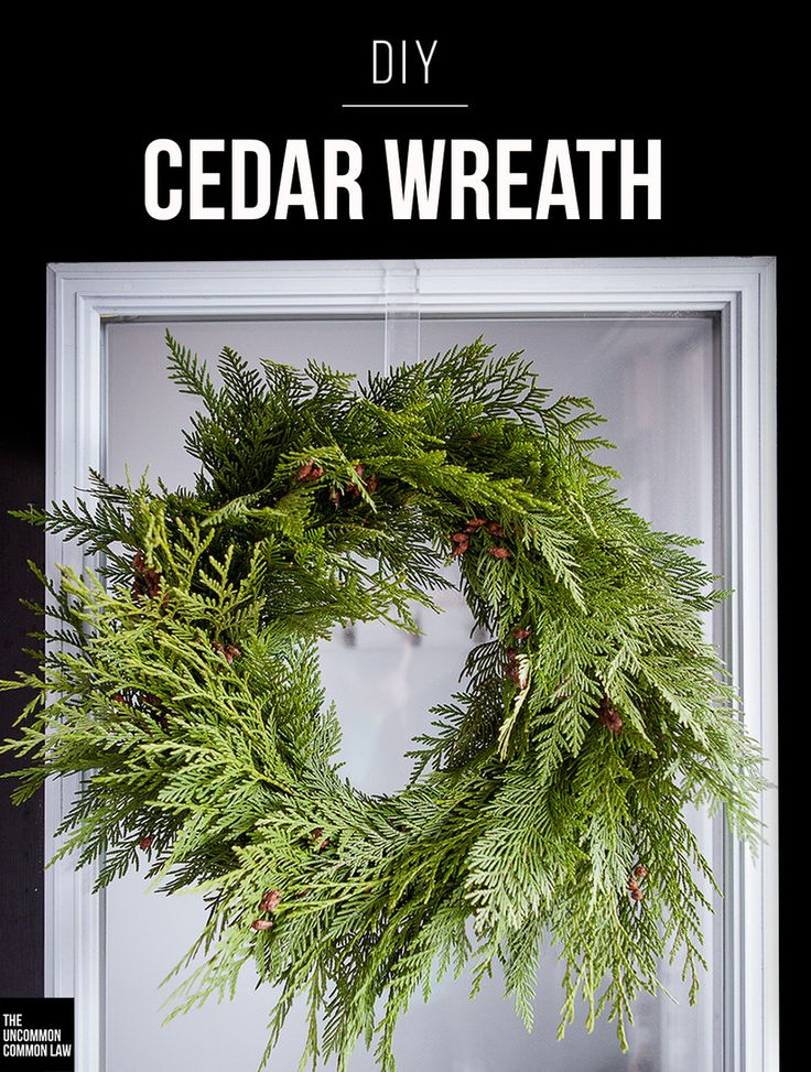 Make your own fresh cedar wreath with this DIY tutorial. A modern, simple, fresh wreath to add a festive touch to your front door.