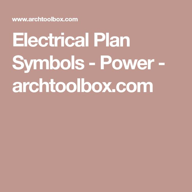 Electrical Plan Symbols - Power - archtoolbox.com