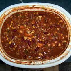 Vegetarische chili uit de slowcooker @ allrecipes.nl