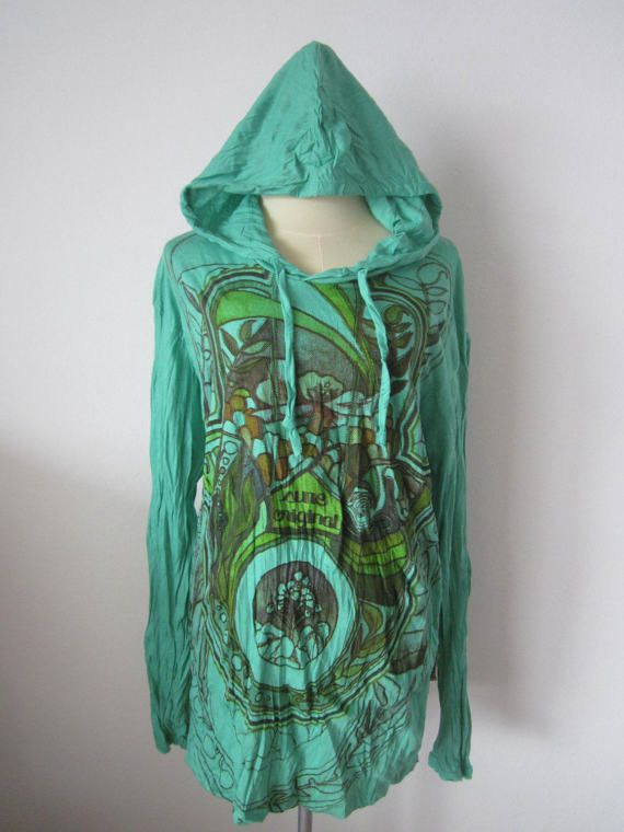 HAMSA HAND     Cotton Hooded Top by isoleynz on Etsy