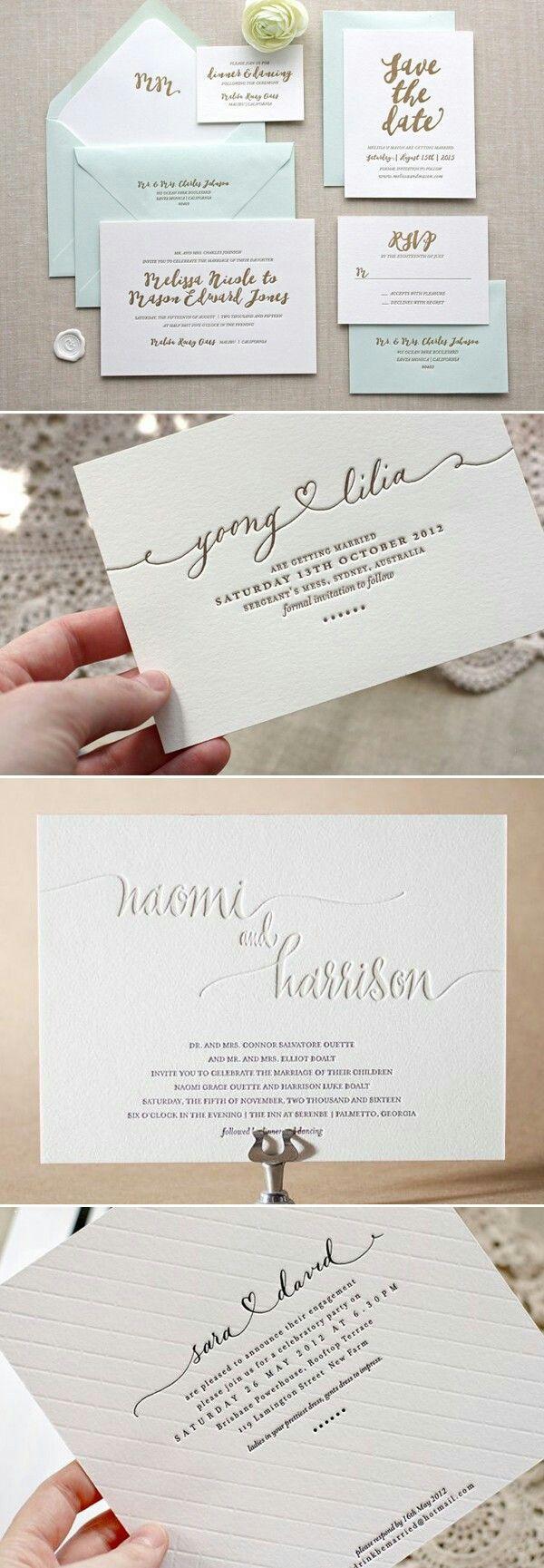 Bride to Be Reading Letterpress wedding