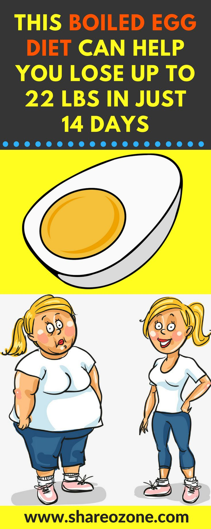 This Boiled Egg Diet Can Help You Lose up to 22 Lbs in Just 14 Days The Boiled Egg Diet There are a number of benefits to point out regarding this simple egg diet. For one it doesnt require you to buy a lot of products that might eat up your money. Second of all this diet has been shown to increase metabolism and decrease the amount of fat in the body and you get all the amazing health benefits of... #DiabetesCureNumbers
