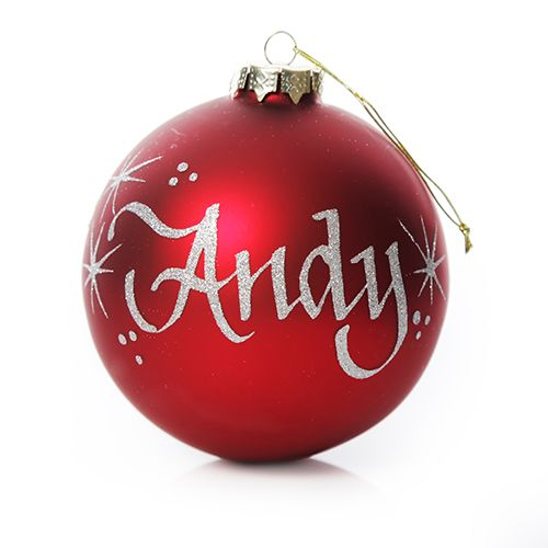 Red Glass Personalised Christmas Bauble | The Christmas Cart