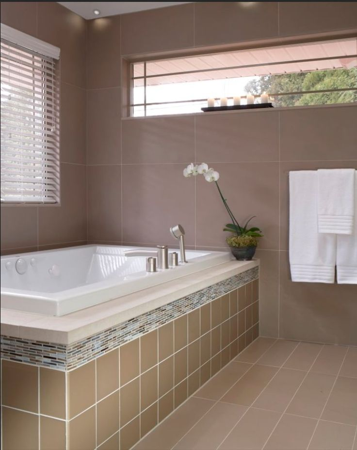 Example of tiling around windows home sweet home pinterest for Examples of tiled bathrooms