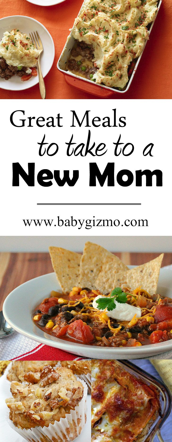 Great Meals to Take a New Mom! No matter what you bring - BRING. HER. FOOD.