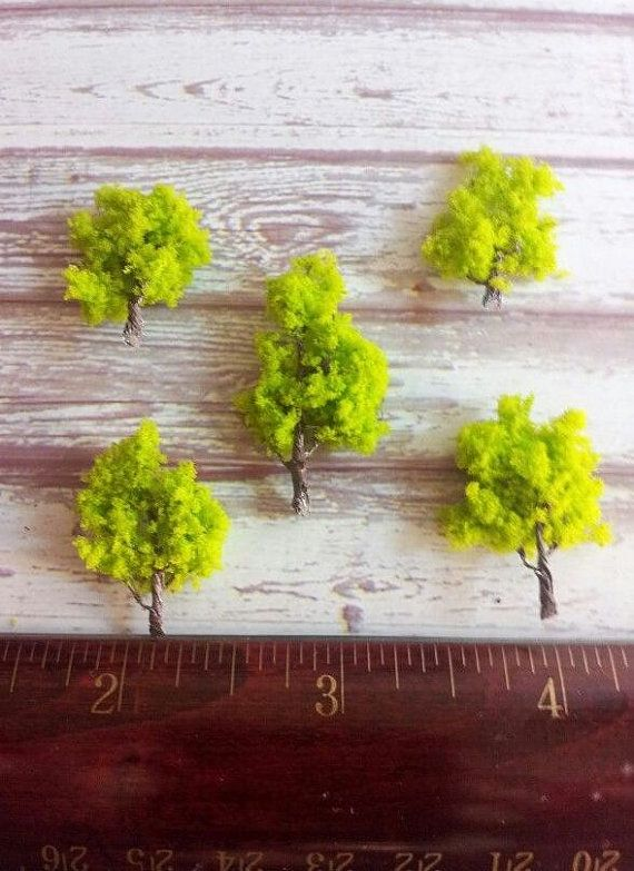 5 miniatures trees under the dome project by Khrissieslittleworld,