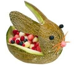 cantaloupe fruit bunny playing-with-food