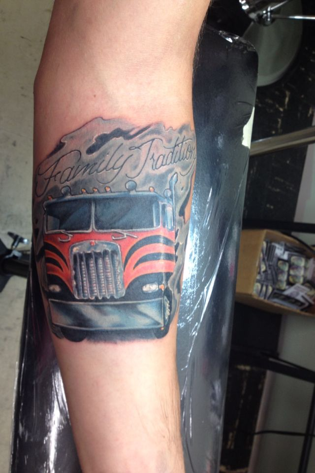 24 best images about for ben on pinterest logos semi for Truck tattoos designs